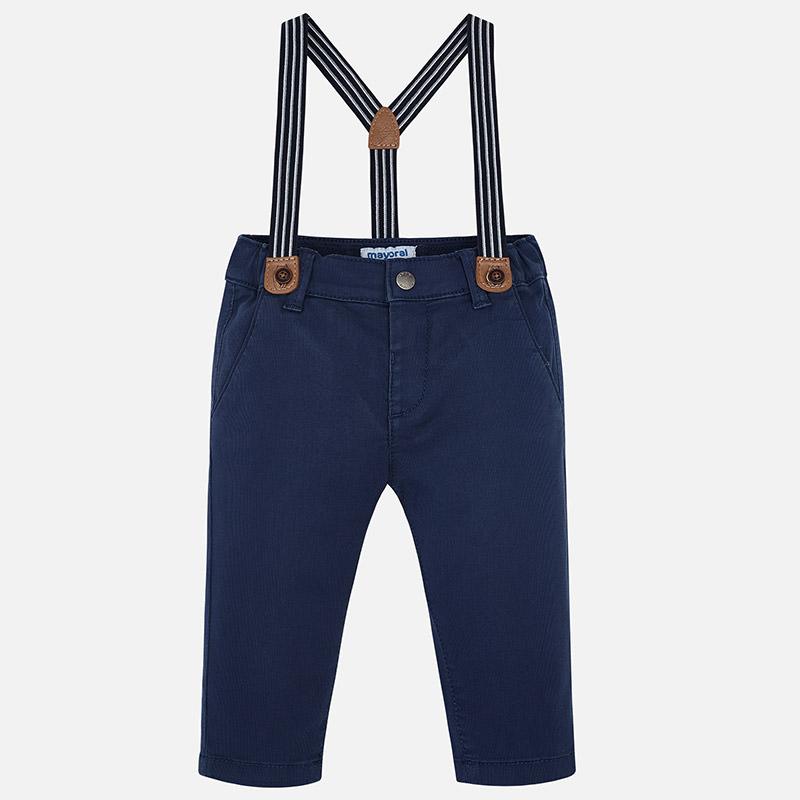 MAYORAL - Dětské chlapecké kalhoty s kšandami  9f35d62596