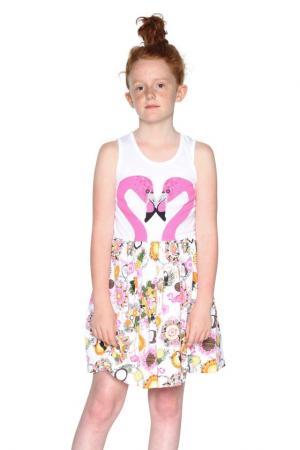 75f8dd7e9f2 DESIGUAL - Dívčí šaty s potiskem plameňáků