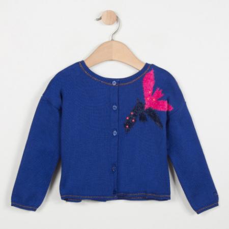 CATIMINI - Dívčí svetr s květinovým vrozem  1cc9a7c37a